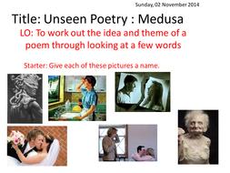 Medusa poem introduction lesson and EAL worksheet