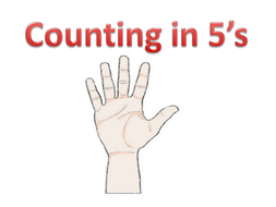 Counting in Fives PowerPoint