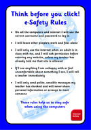 Think Before You Click - e-Safety Poster