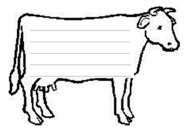 cow writing template by rachyben teaching resources tes