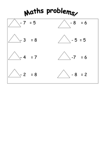 Charming Missing Number Subtraction Worksheets Images - Printable ...