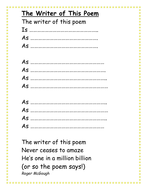I Am Poem Template | The Writer Of This Poem Template By Pinguina81 Teaching Resources