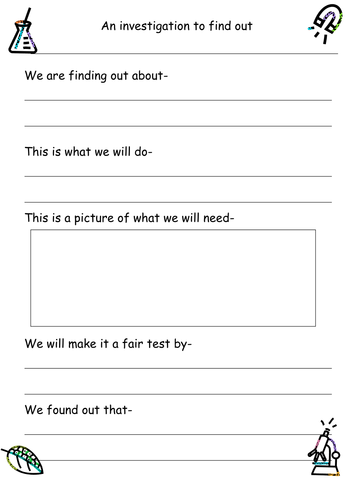 Science experiment planning sheet KS1 by ruthbentham - Teaching ...