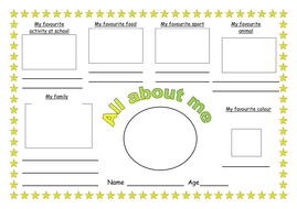 All about me worksheet by ruthbentham - Teaching Resources - Tes