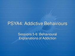 behavioural explanations of addiction