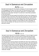 Saul's Conversion to Paul