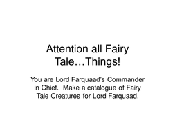 Attention all Fairy Tale.ppt