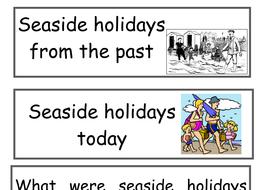 Seaside holiday display labels