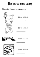 Finish the sentences The Three Billy Goats