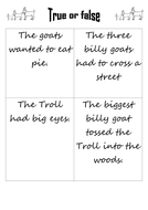 Billy Goats True or false
