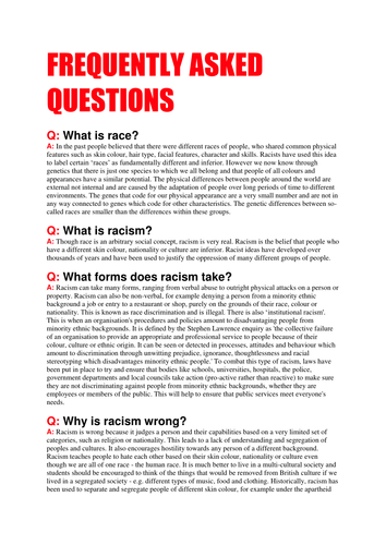 Worksheets Racism Worksheets racism by michael gamble teaching resources tes