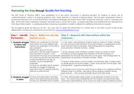 Narrowing the Gap through Quality First Teaching