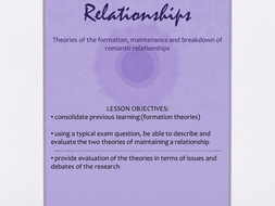 Maintenance of Relationships Powerpoint