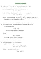 Mixed Trigonometry Questions