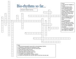 Biorhythms Crossword