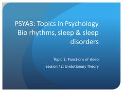 Power point on evolutionary of sleep