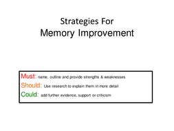 Power point on memory improvement