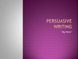 Persuasive writing task with exemplars