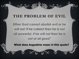 The Problem of Evil - quote - starter activity