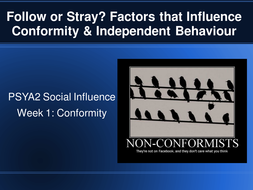 Power point on social influence