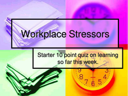 Stress in the workplace power point