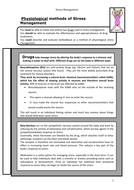 Sheet on biological Psychology