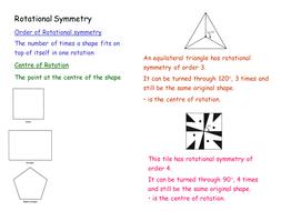 GCSE Maths: Rotational Symmetry lesson resources
