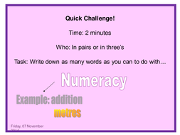 Maths KS3: Numeracy Time resources for year 7