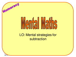 3 Mental Methods Subtraction.ppt