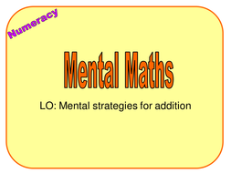 2 Mental Methods Addition.ppt