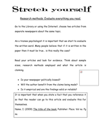 Research Methods Extension Task
