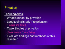 Power point on Privation
