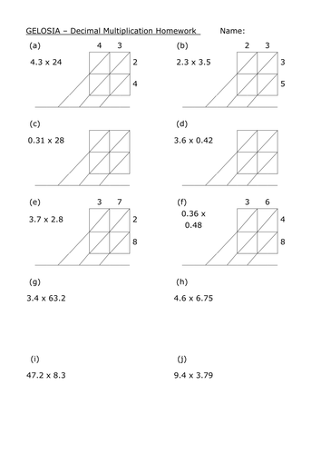 Multiplication Worksheets » Multiplication Worksheets Ks3 ...