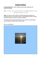 Desriptive writing task: the sea