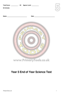 yr 5 sceince test and answers.pdf