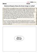 Henry VIII - Worksheet