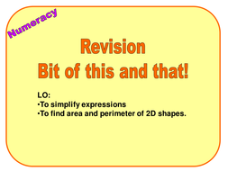 Numeracy (Unit 2) for Y10 form time