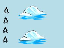 Penguins simple division IWB activity