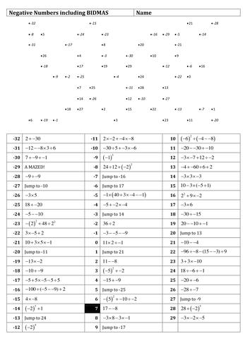 28+ [ Bodmas Worksheets Pdf ] | Ks3 Maths Worksheets Bodmas,Maths ...