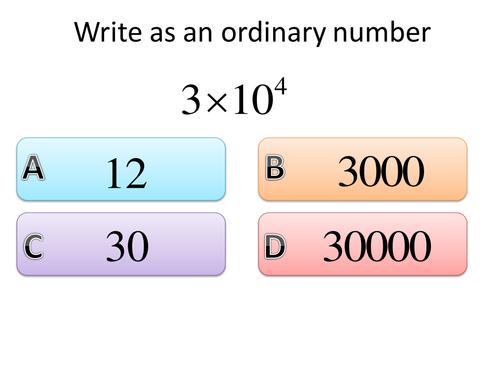 Standard Form Resources Tes