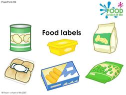 cooking food labels powerpoint by foodafactoflife teaching