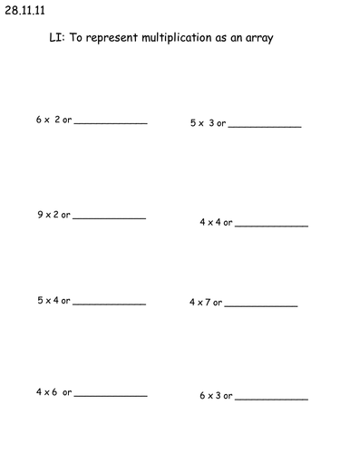 Multiplication Intro Planning/ Resources by amygaunt - Teaching ...