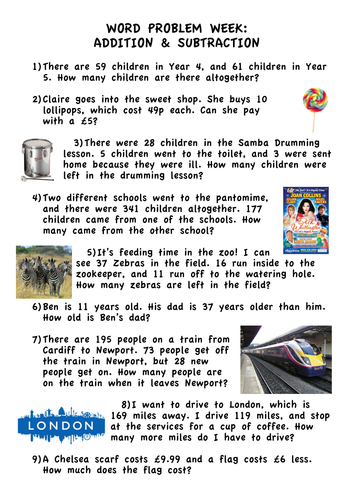 All Worksheets » Addition And Subtraction Word Problems Worksheets ...