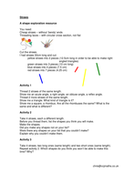 Maths Primary: Measuring/Shapes 'Straws 2'