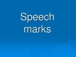lesson starter pp slides on speech marks by missrathor teaching