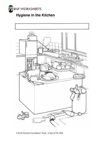 Hygiene in the Kitchen - Worksheets by foodafactoflife ...