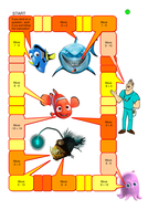 Directed Number Board Game with Finding Nemo