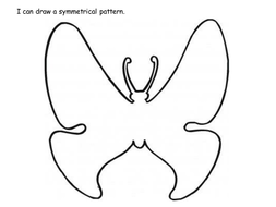 Design a symmetrical butterfly sheet by claireh1039