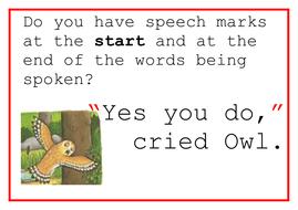 Gruffalo Speech Mark Rules Posters
