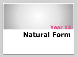 Natural forms Scheme of work- BTEC level 3 ART